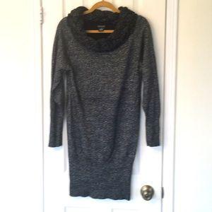 EUC Long Sparkle Venus Sweater with Braided Neck